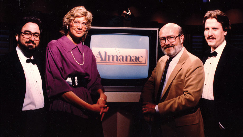 Vintage Image of Almanac Cast